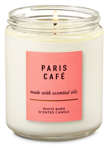 Paris Café Single Wick Candle - Bath And Body Works