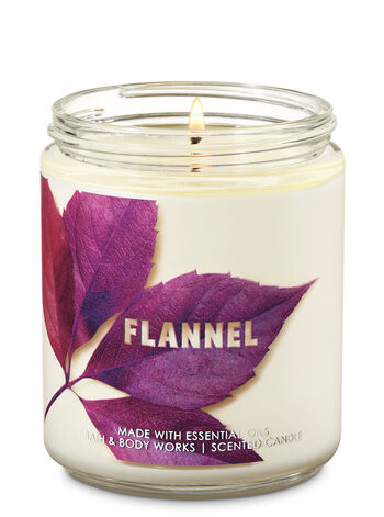 Flannel Single Wick Candle - Bath And Body Works