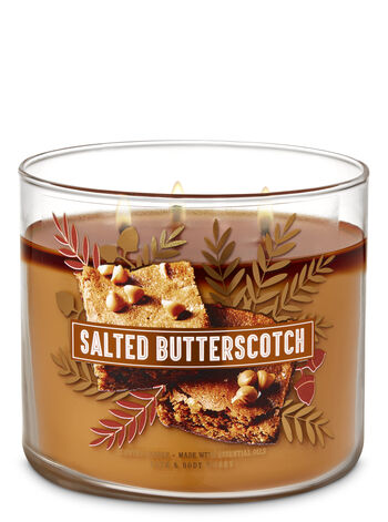 Salted Butterscotch 3-Wick Candle - Bath And Body Works