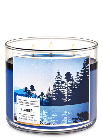 Flannel 3-Wick Candle