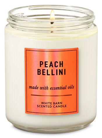 Peach Bellini Single Wick Candle - Bath And Body Works