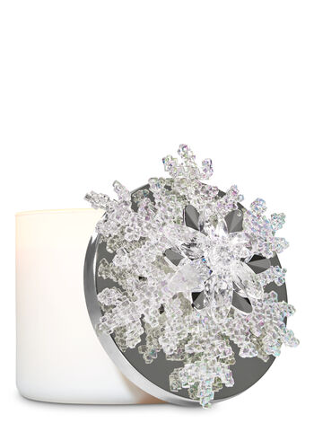 White Snowflake 3-Wick Candle Magnet - Bath And Body Works