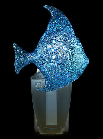 Glittery Blue Fish Nightlight Wallflowers Fragrance Plug