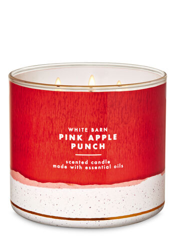 White Barn Pink Apple Punch 3-Wick Candle - Bath And Body Works