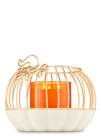 Pumpkin Cage Luminary 3-Wick Candle Holder - Bath And Body Works