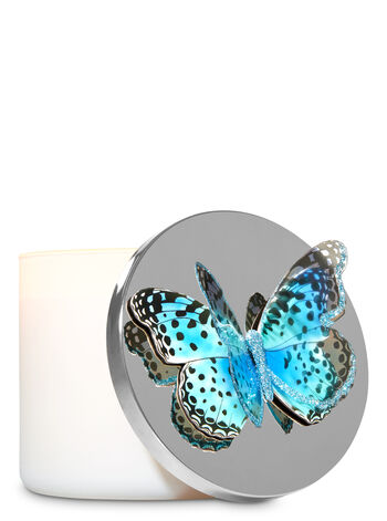 Blue Butterfly 3-Wick Candle Magnet - Bath And Body Works