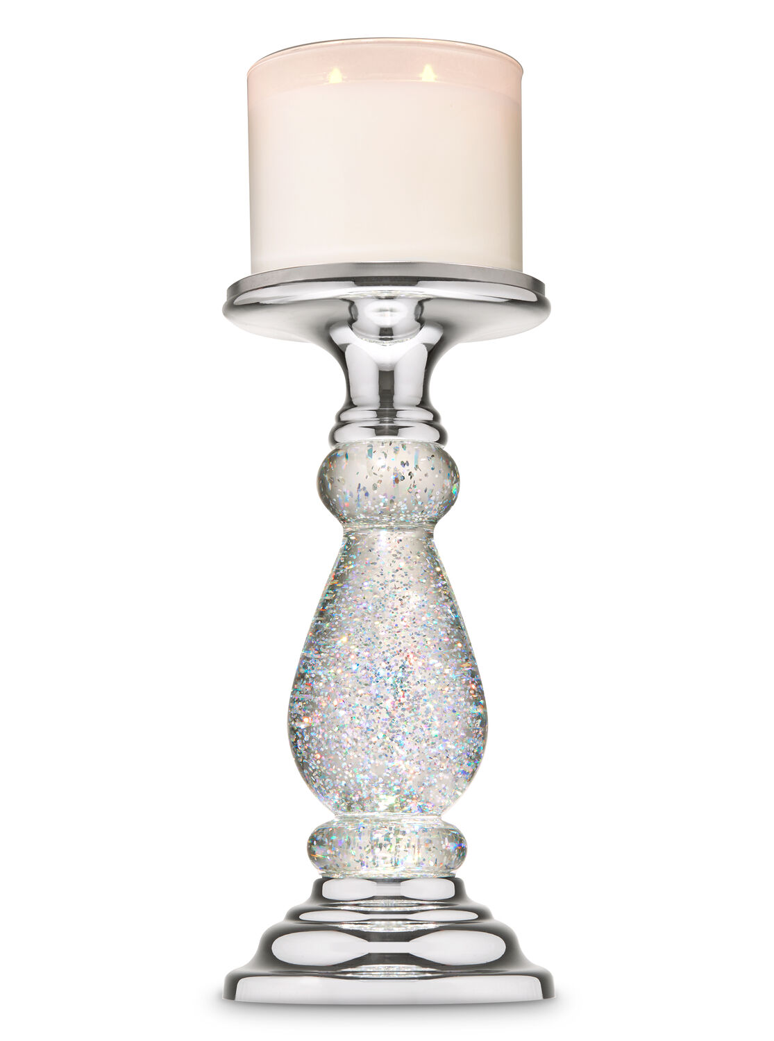 Gold Swirling Glitter Pedestal Bath and Body Works 3-Wick Candle Holder