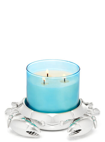 Silver Crab 3-Wick Candle Holder - Bath And Body Works