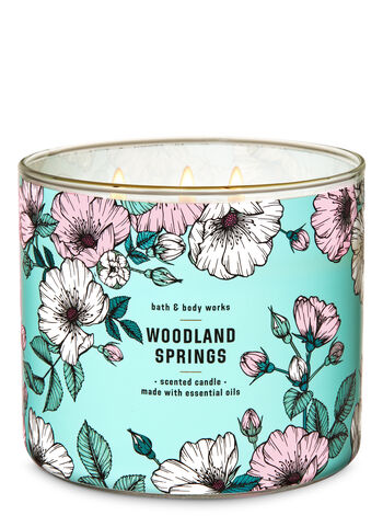 Woodland Springs 3-Wick Candle - Bath And Body Works