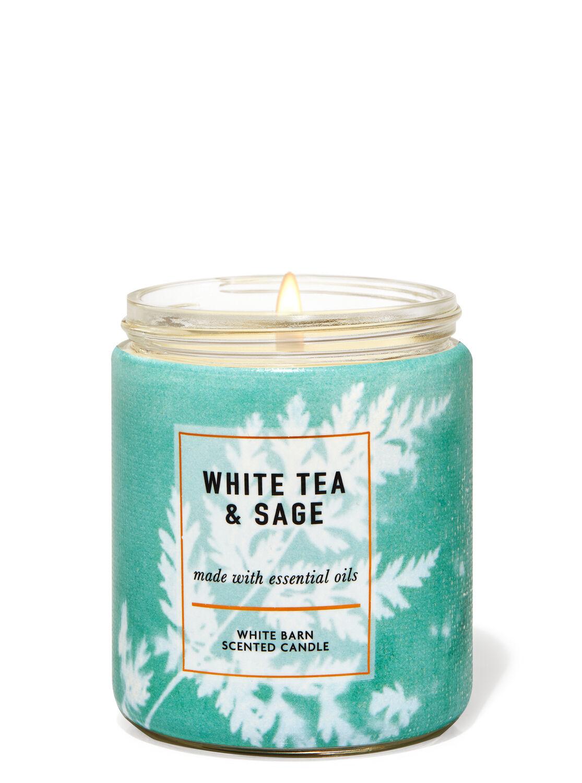 White Tea & Sage Single Wick Candle