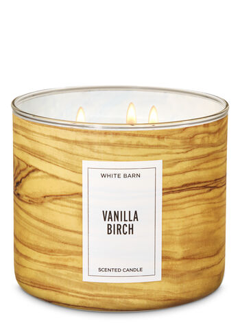 White Barn Vanilla Birch 3-Wick Candle - Bath And Body Works