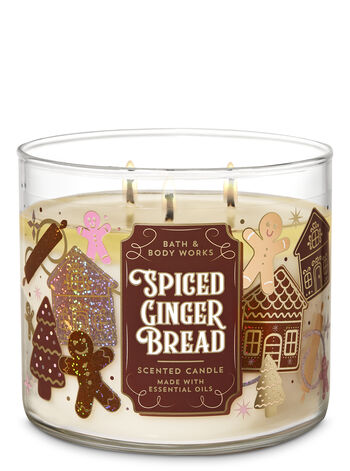 Spiced Gingerbread 3-Wick Candle - Bath And Body Works