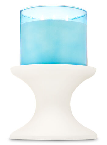 White Pedestal 3-Wick Candle Holder - Bath And Body Works