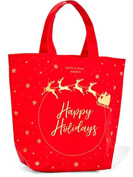 Happy Holidays Canvas Gift Bag