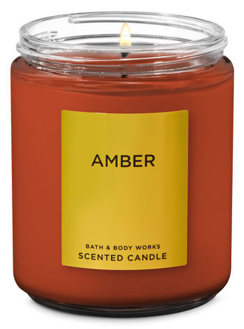 Amber Single Wick Candle - Bath And Body Works