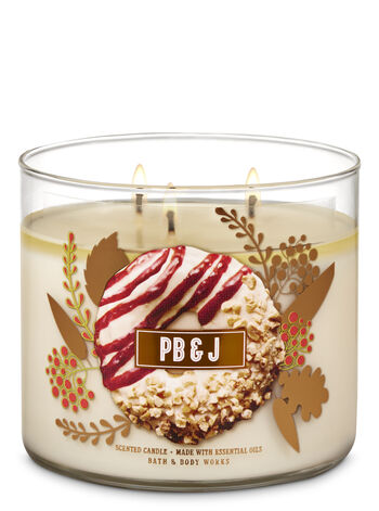 PB & J 3-Wick Candle - Bath And Body Works