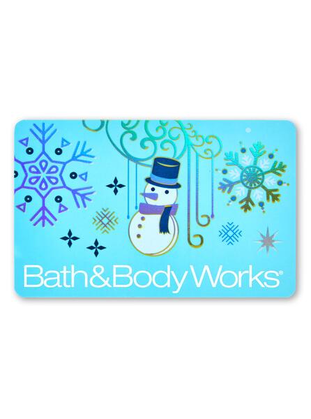 Blue Snowman Gift Card