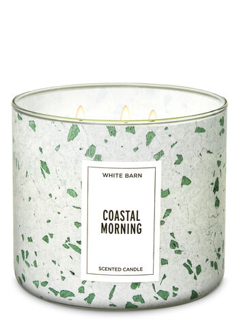 White Barn Coastal Morning 3-Wick Candle - Bath And Body Works