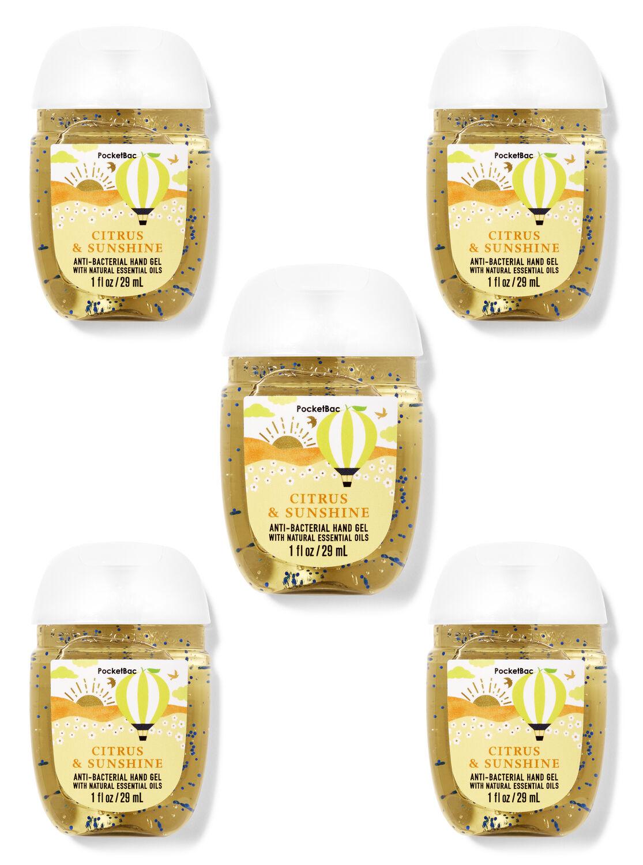 Citrus & Sunshine PocketBac Hand Sanitizers, 5-Pack