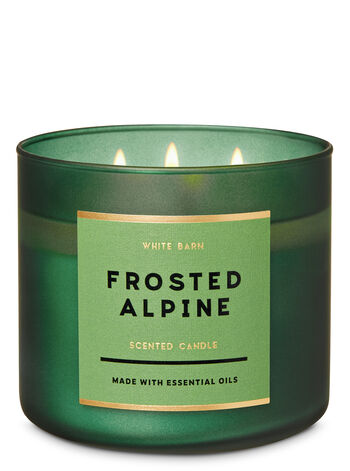 White Barn Frosted Alpine 3-Wick Candle - Bath And Body Works