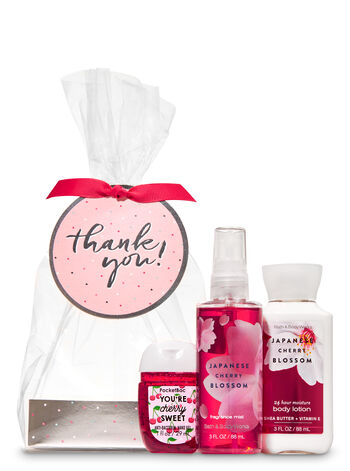 Japanese Cherry Blossom Thank You Mini Gift Set - Bath And Body Works