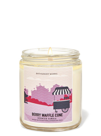 Berry Waffle Cone Single Wick Candle