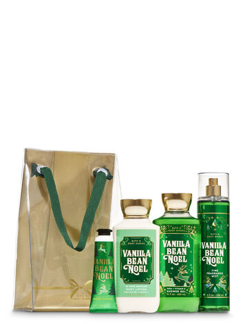 Vanilla Bean Noel Gift Bag Set - Bath And Body Works