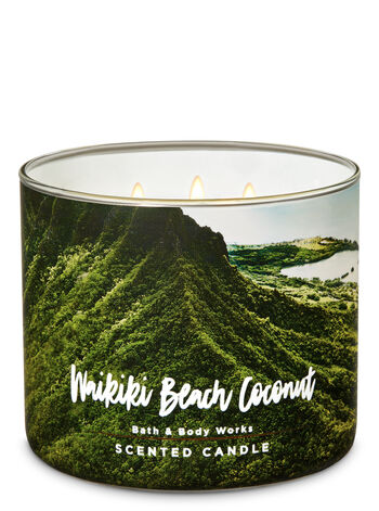 Waikiki Beach Coconut 3-Wick Candle - Bath And Body Works