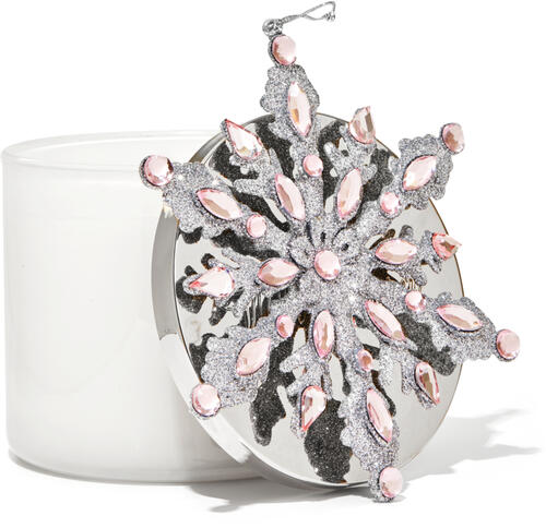 Pink Snowflake 3-Wick Candle Magnet
