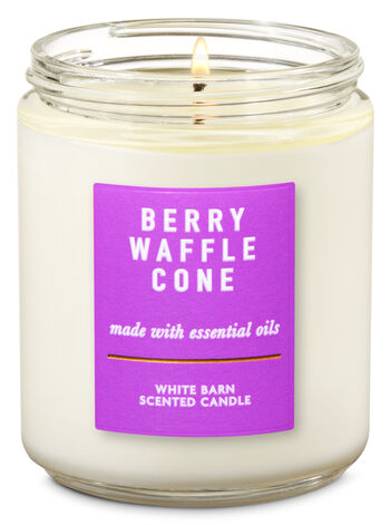 Berry Waffle Cone Single Wick Candle - Bath And Body Works