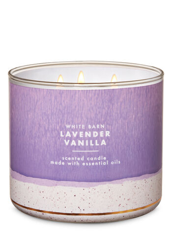 White Barn Lavender Vanilla 3-Wick Candle - Bath And Body Works