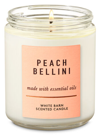 Peach Bellini Single Wick Candle - Bath And Body Works