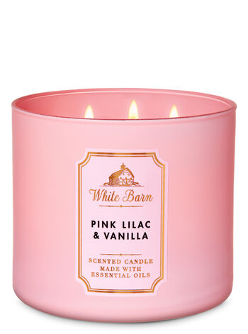 White Barn Pink Lilac & Vanilla 3-Wick Candle - Bath And Body Works