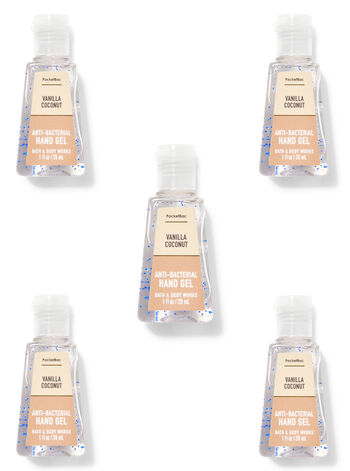 Vanilla Coconut PocketBac Hand Sanitizer, 5-Pack