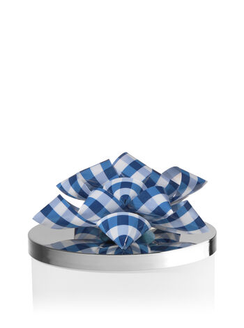Blue Gingham Bow 3-Wick Candle Magnet - Bath And Body Works