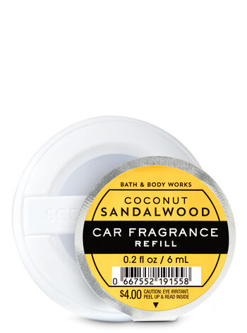 Coconut Sandalwood Car Fragrance Refill - Bath And Body Works
