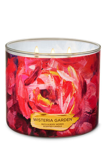 Wisteria Garden 3-Wick Candle - Bath And Body Works