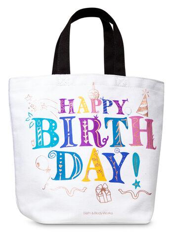 Birthday Canvas Gift Bag - Bath And Body Works
