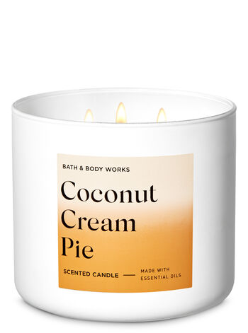 Coconut Cream Pie 3-Wick Candle - Bath And Body Works
