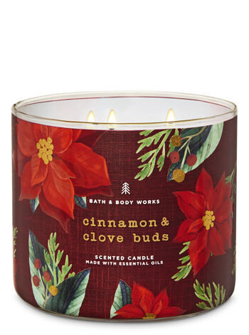 Cinnamon & Clove Buds 3-Wick Candle - Bath And Body Works