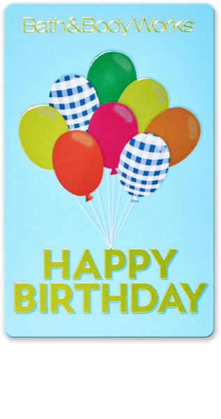 Happy Birthday Balloons Gift Card