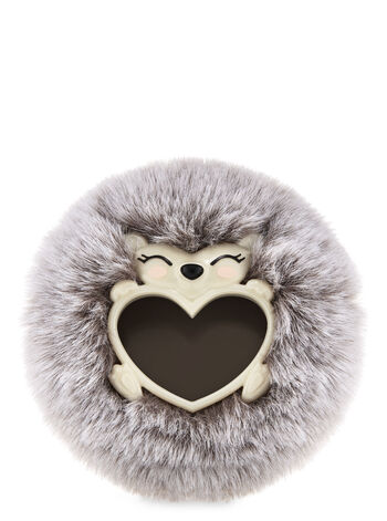 Fluffy Hedgehog Visor Clip Car Fragrance Holder