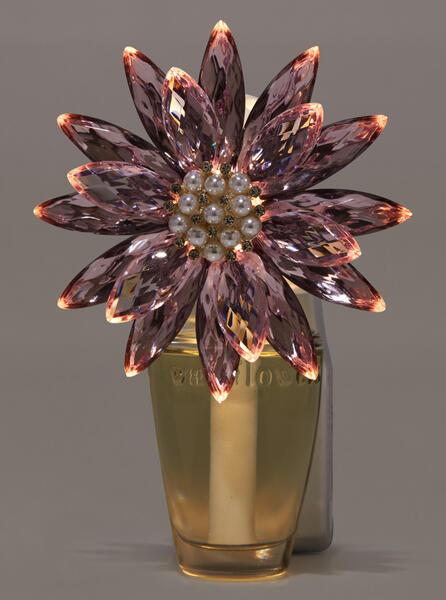 Crystal Poinsettia Nightlight Wallflowers Fragrance Plug