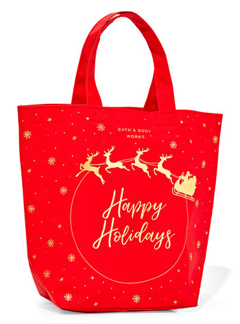 Happy Holidays Canvas Gift Bag
