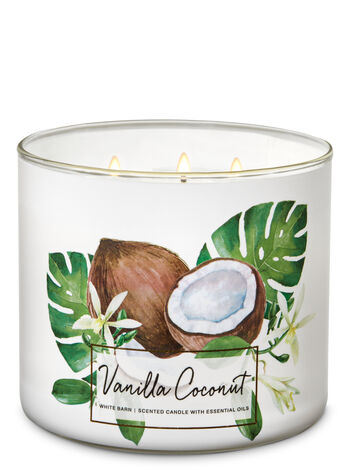 Vanilla Coconut 3-Wick Candle - Bath And Body Works