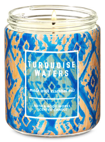 Turquoise Waters Single Wick Candle - Bath And Body Works