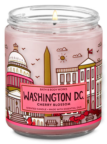 Cherry Blossom Single Wick Candle - Bath And Body Works