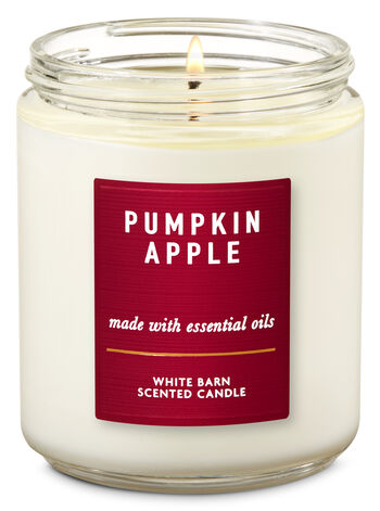 Pumpkin Apple Single Wick Candle - Bath And Body Works