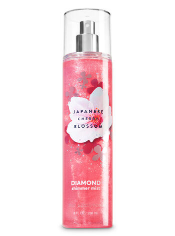 Signature Collection Japanese Cherry Blossom Diamond Shimmer Mist - Bath And Body Works