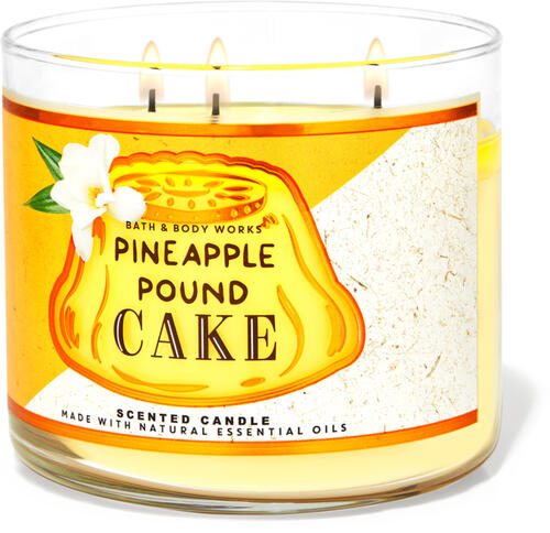 Pineapple Pound Cake 3-Wick Candle